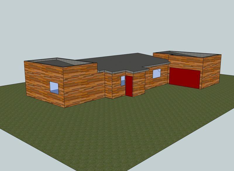 Vue projet construction ossature bois